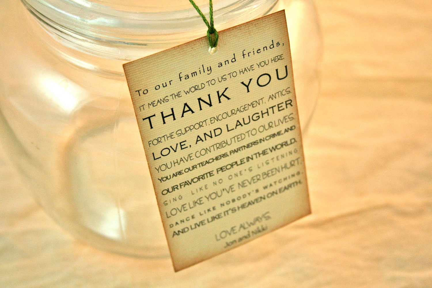 Wedding Gift Bag Thank You Tags : ... .com/listing/113113675/weddings-favors-paper-goods-vintage?ref=market