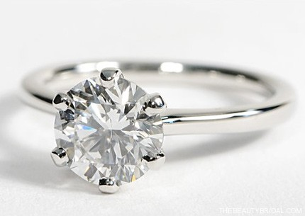 engagement ring diamond rings jewellery cut brilliant wedding stone single one