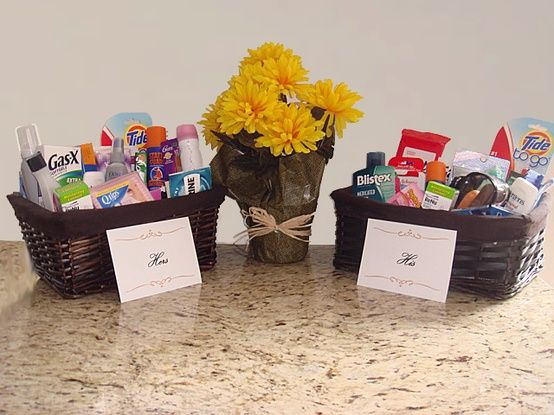 Restroom baskets lavish wed for Amenity baskets for wedding bathrooms